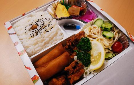若鶏の唐揚ミックス弁当(750円)
