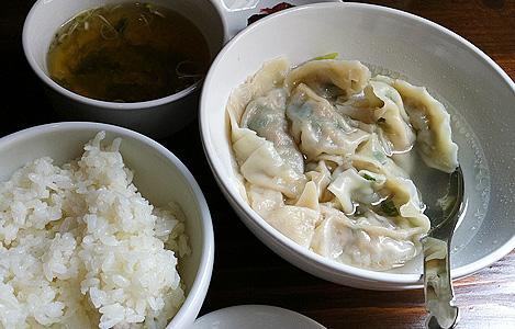 スイ九定食(650円)こちらもごはん食べ放題、スープ、お新香つき。