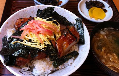 鳥丼定食 750円